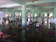 The ground floor, where women meditate